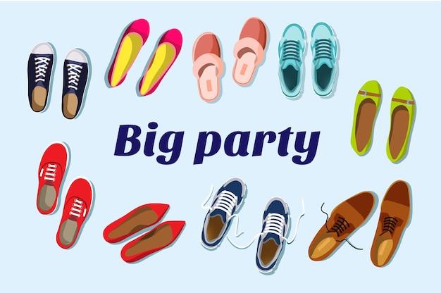 Grande discoteca. grande festa. conceito de convite de festa. Vetor Premium