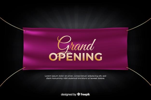 Grande inauguração em breve, design de anúncio Vetor grátis