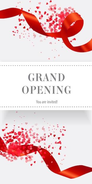 Grande inauguração você está convidado banner vertical Vetor grátis
