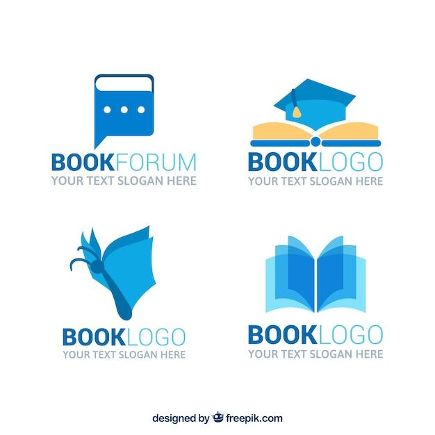 Grande logos livro Vetor grátis