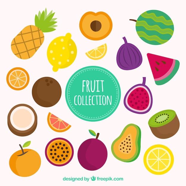 Grande, Pacote, Colorido, Frutas, Apartamento, Desenho