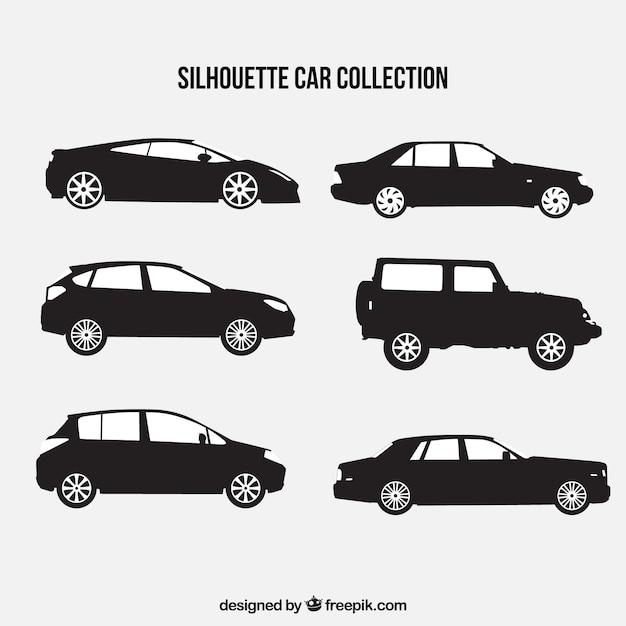 Sports car silhouette vector free download 8