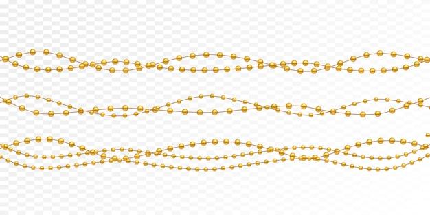 Grânulos de ouro em um fundo branco. Vetor Premium