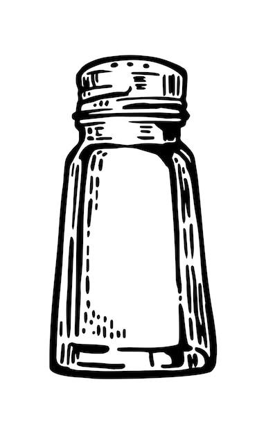 Gravura vintage saleiro ilustração Vetor Premium