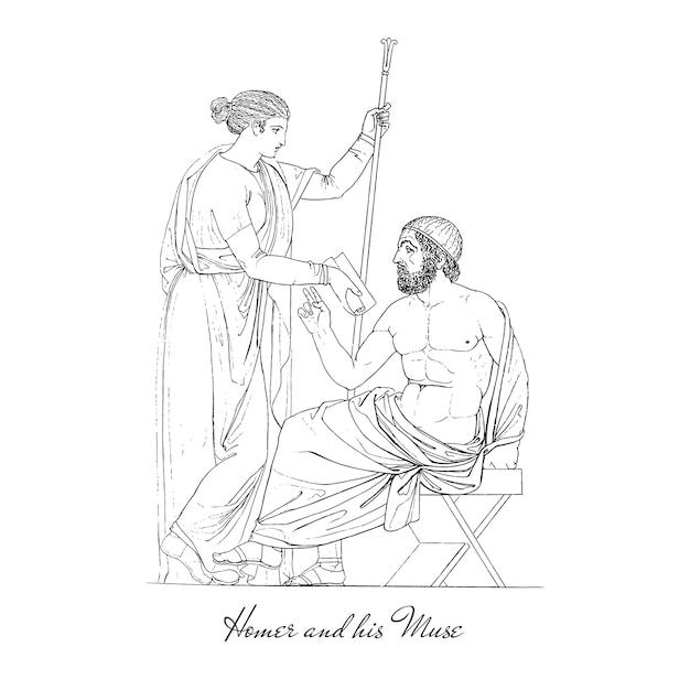 Grécia antiga ilustração Vetor grátis