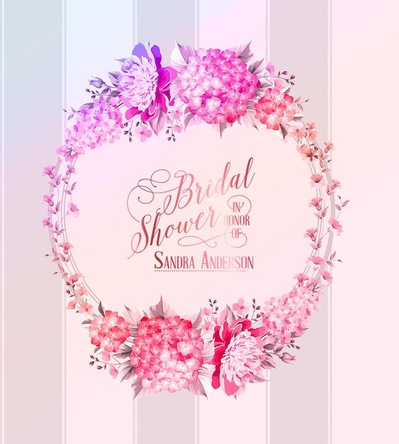 Grinalda de flores blosoom Vetor Premium