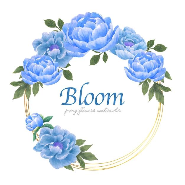 Grinalda de flores botânicas elegância Vetor grátis