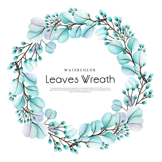 Grinalda de flores em aquarela linda Vetor Premium