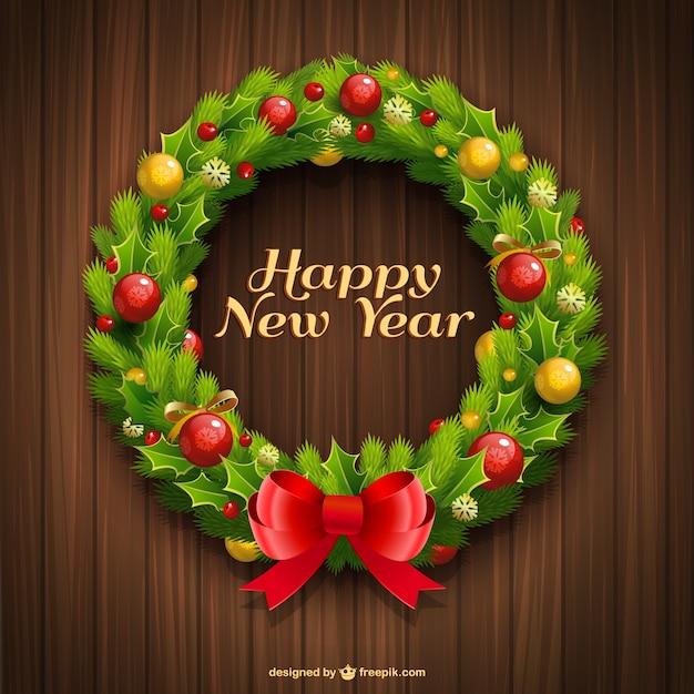 Grinalda feliz ano novo Vetor grátis