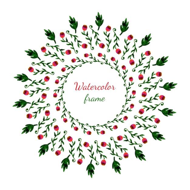 Grinalda floral. convite, casamento ou cartão de aniversário. Vetor Premium