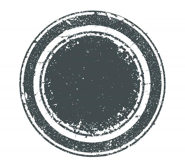 Grunge, afligido, redondo, selo Vetor Premium