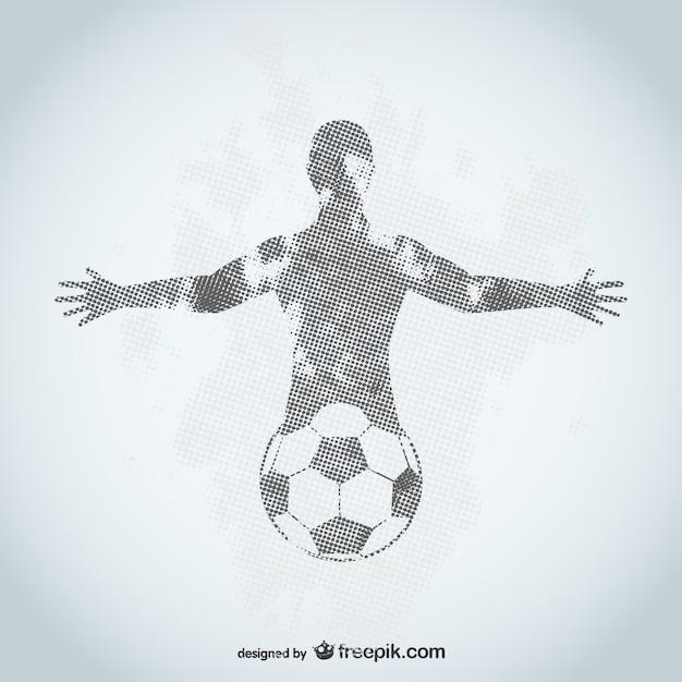 Grunge jogador de futebol Vetor grátis