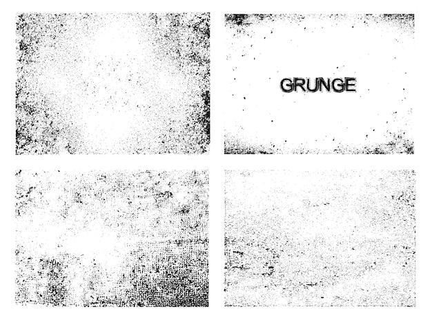 Grunge textura coleção Vetor grátis