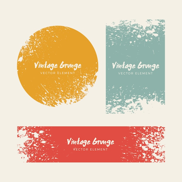 Grunge vintage angustiado coleção de fundos Vetor grátis