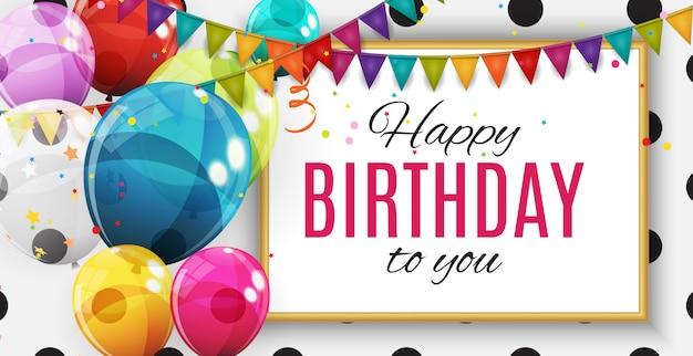 Grupo de balões de hélio brilhante de cor. conjunto de balões para aniversário, aniversário, festa decorações de comemoração. Vetor Premium