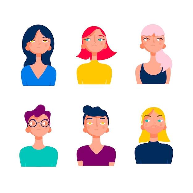 Grupo de diversidade de jovens Vetor grátis