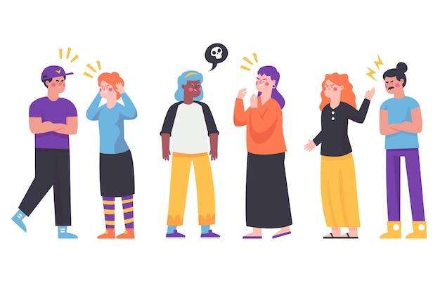 Grupo de pessoas tendo alguns conflitos ilustrados Vetor grátis
