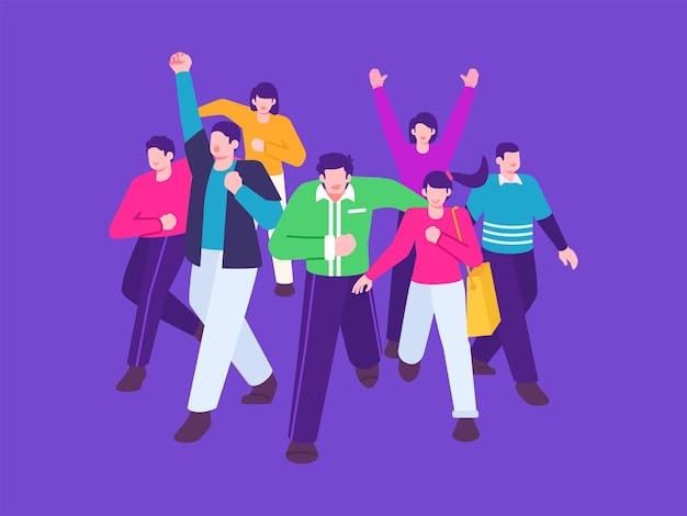 Grupo de pessoas. Vetor Premium