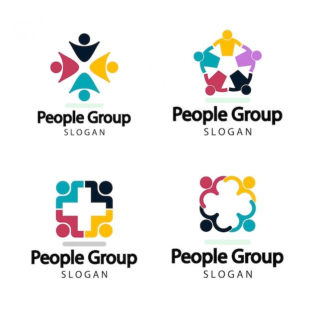 Grupo gráfico conectando Vetor Premium