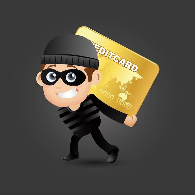Hacker e ladrão Vetor Premium