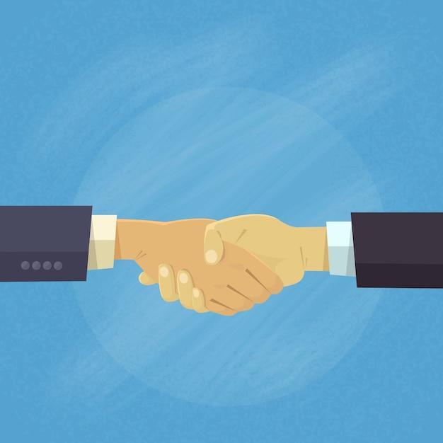 Handshake business people hands agitar conceito acordo Vetor Premium