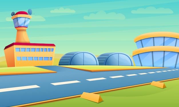 Hangar para aeroporto Vetor Premium