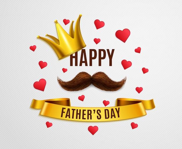 Happy dad day Vetor grátis