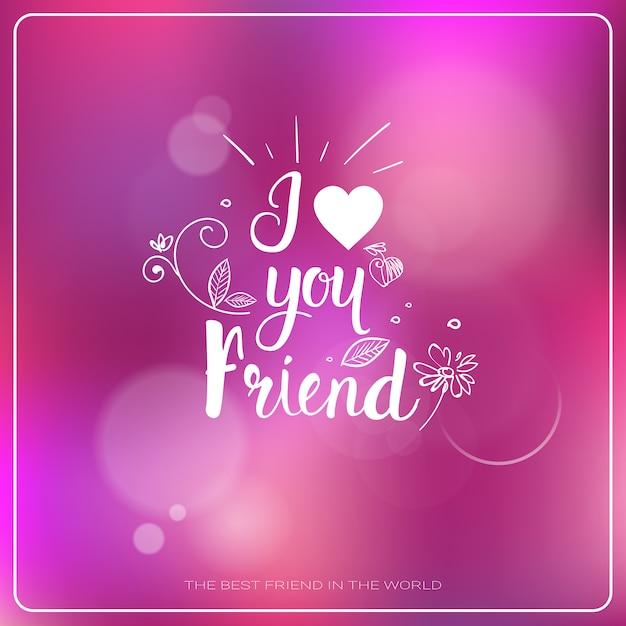 Happy friendship day logo greeting card banner de férias de amigos Vetor Premium