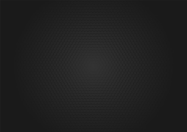 Hexágono de fundo abstrato com textura preta Vetor Premium
