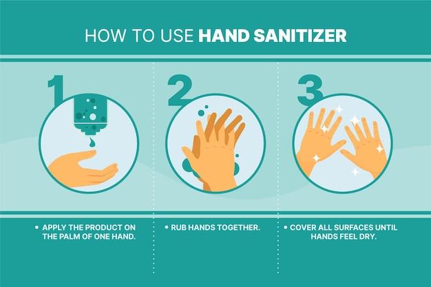 Higiene pessoal com desinfetante para as mãos Vetor grátis