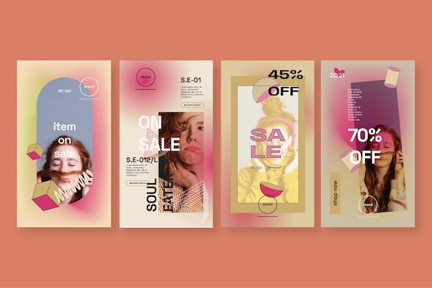 História de venda no instagram Vetor grátis
