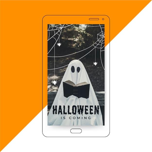 História do instagram do halloween Vetor grátis