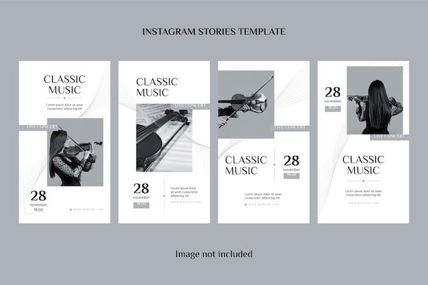 Histórias clássicas do instagram Vetor Premium