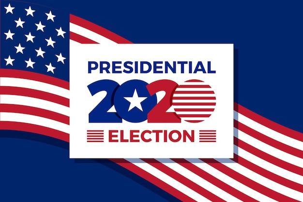 Histórico da eleição presidencial dos eua em 2020 Vetor grátis