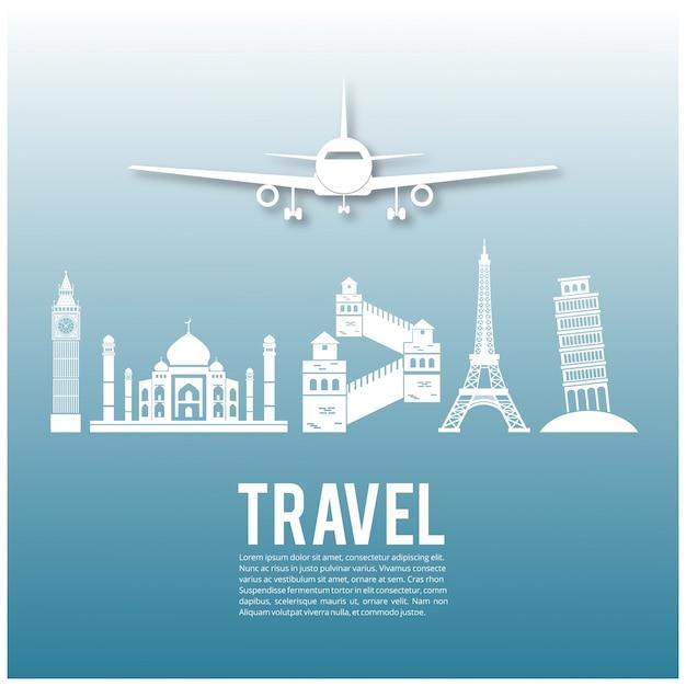 Histórico de infografia de viagens e transporte Vetor grátis