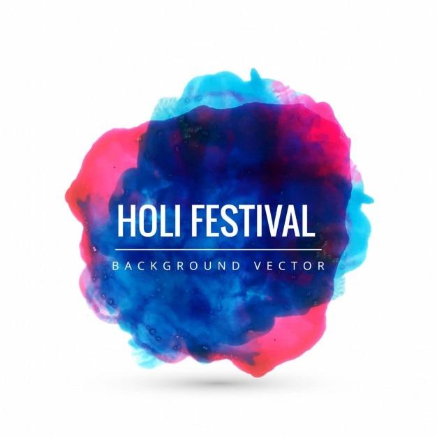 Holi colorido festival fundo Vetor grátis