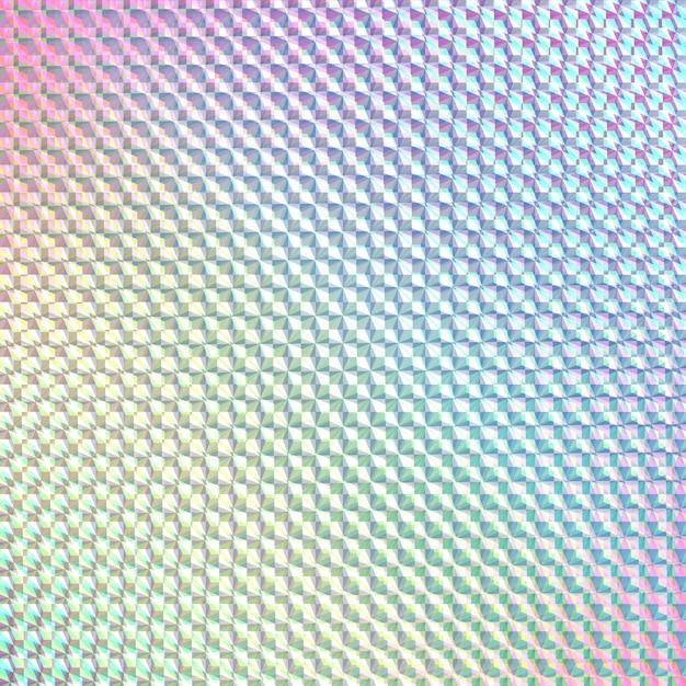 Holograma sticker_beautiful reflexão Vetor Premium