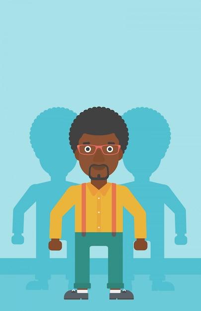 Homem à procura de ilustração vetorial de emprego. Vetor Premium