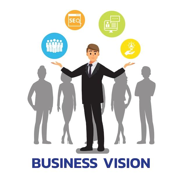 Homem de negocios Vetor Premium