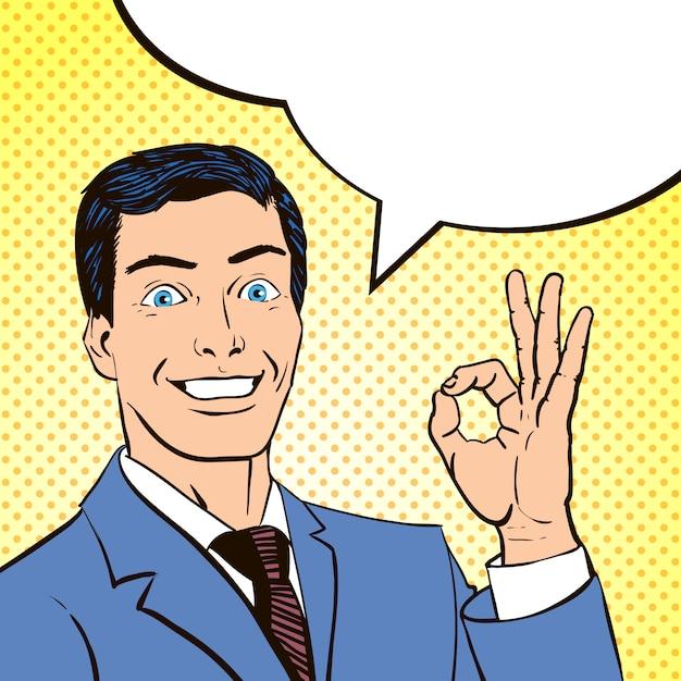 Homem de painel de livro de quadrinhos vintage Vetor grátis