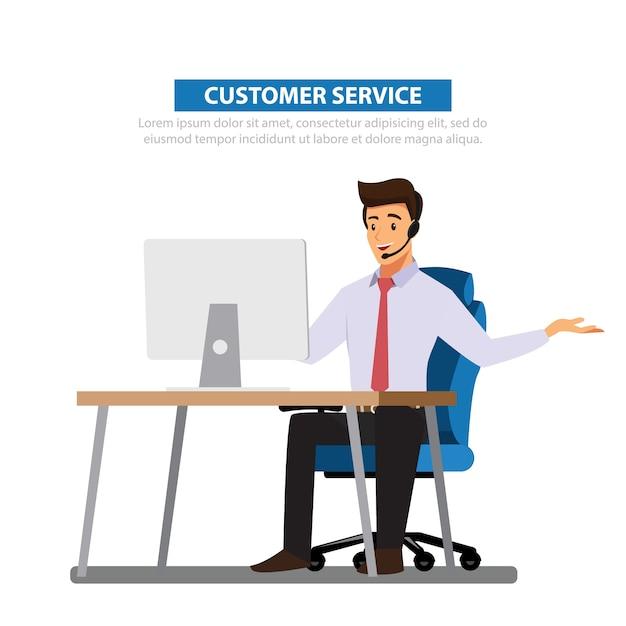 Homem negócios, consultar Vetor Premium