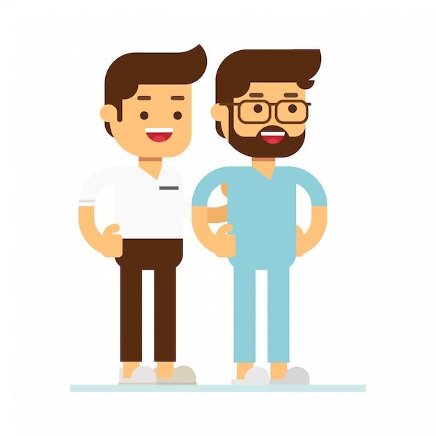 Homem, personagem, avatar, ícone Vetor Premium