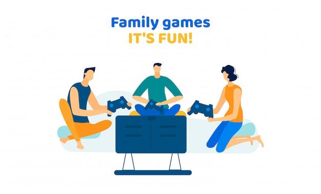 Homens e mulheres da empresa jogando videogame em casa Vetor Premium