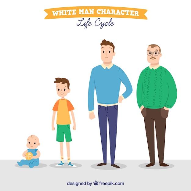 Homens em diferentes idades Vetor grátis