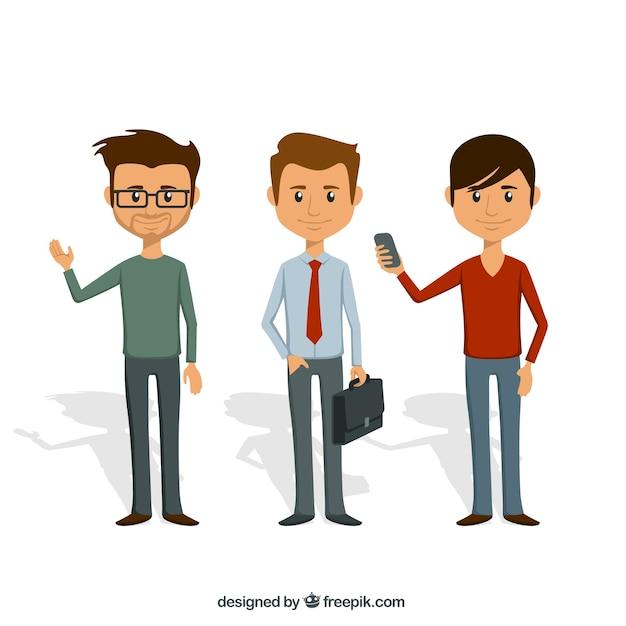Homens ilustração Vetor Premium