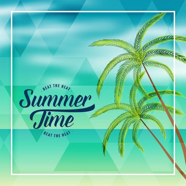Horário de verão praia férias adorável fundo Vetor grátis