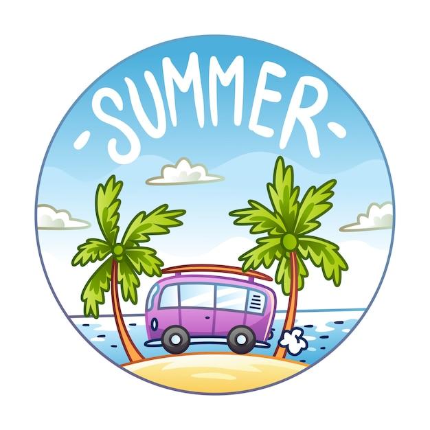 Horário de verão Vetor Premium