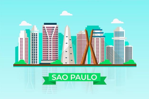 Horizonte de são paulo brasil Vetor grátis