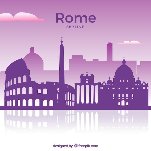 Horizonte roxo de roma Vetor grátis