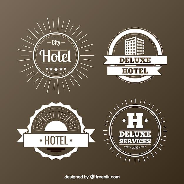 Hotéis emblemas pacote Vetor grátis